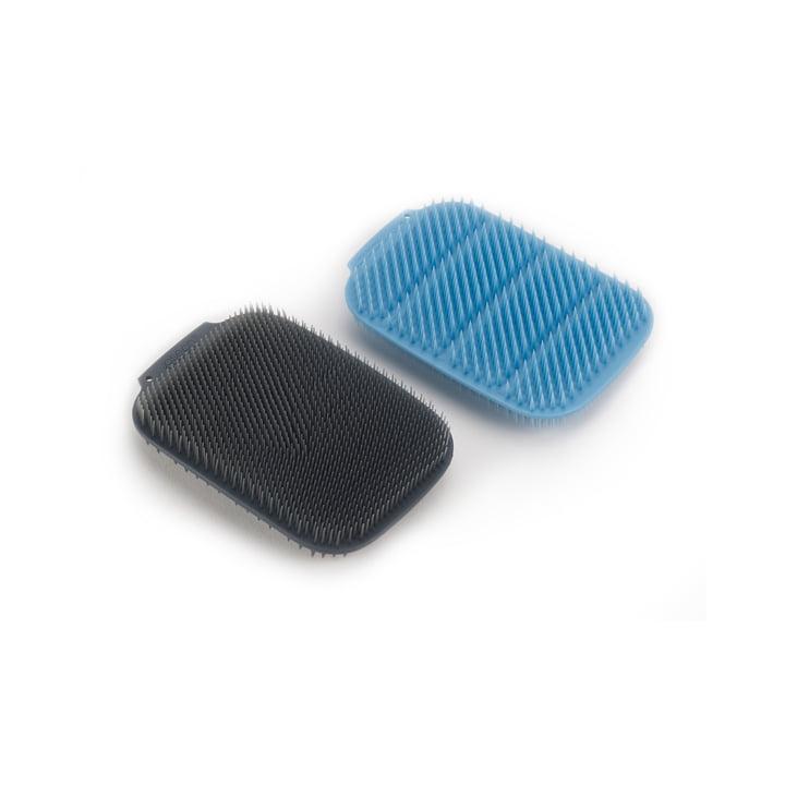 CleanTech Eponge de rinçage, bleue / grise (lot de 2) de Joseph Joseph