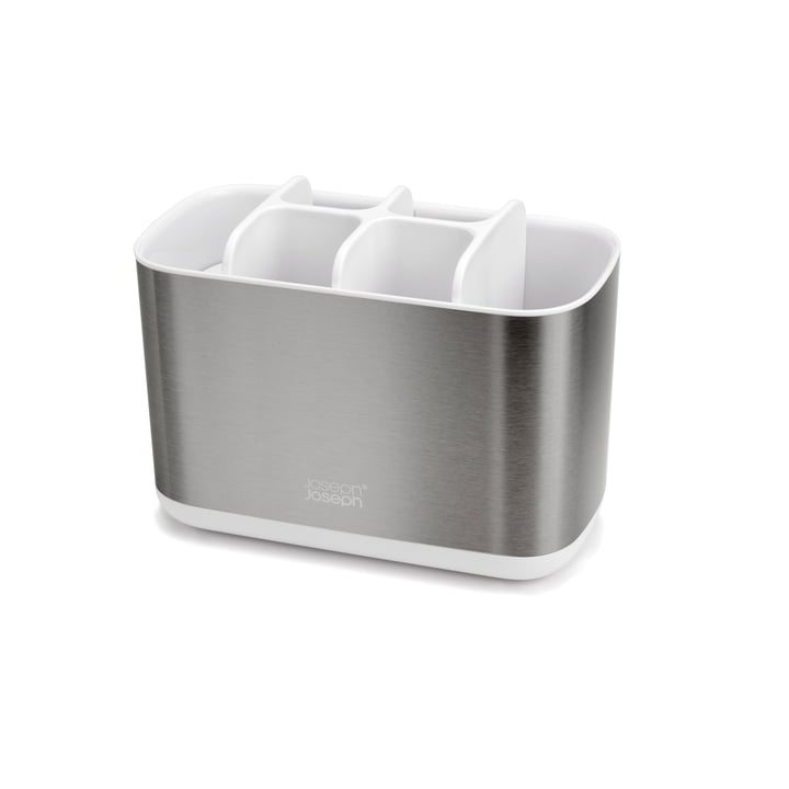 EasyStore Steel Porte-brosse à dents, grand / blanc de Joseph Joseph