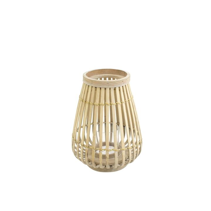 Lanterne en bambou dans la nature, 26 cm