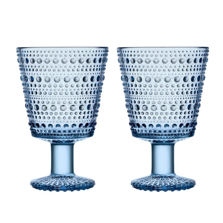 Verre à boire Kastehelmi avec pied 26 cl de Iittala in aqua (set de 2)