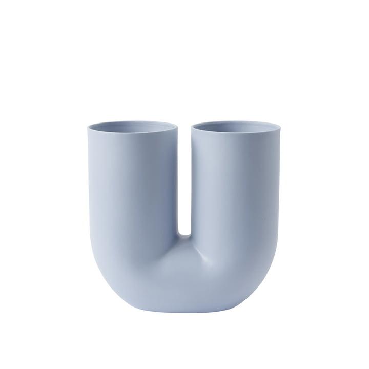 Vase Kink de Muuto en bleu clair