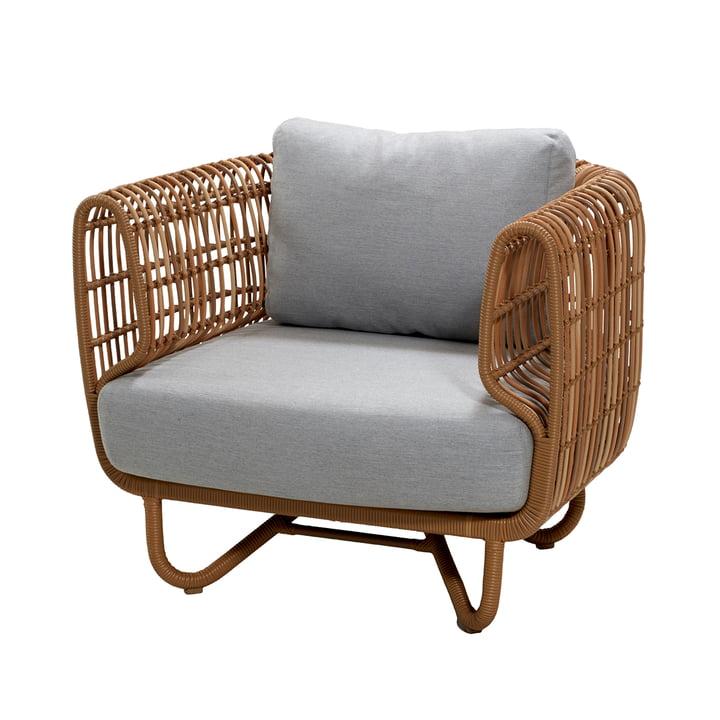 Chaise longue d'extérieur, naturelle / gris clair par Cane-line