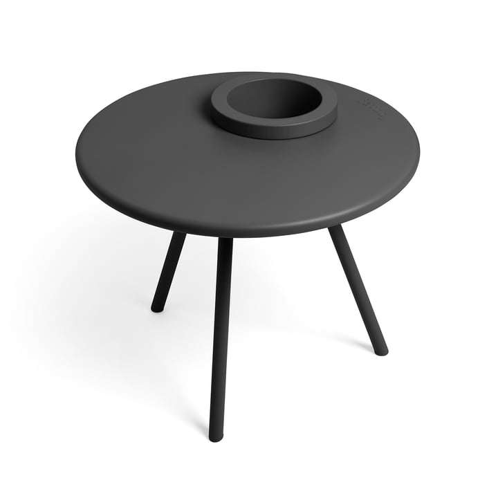 Table d'appoint Bakkes Fatboy en anthracite