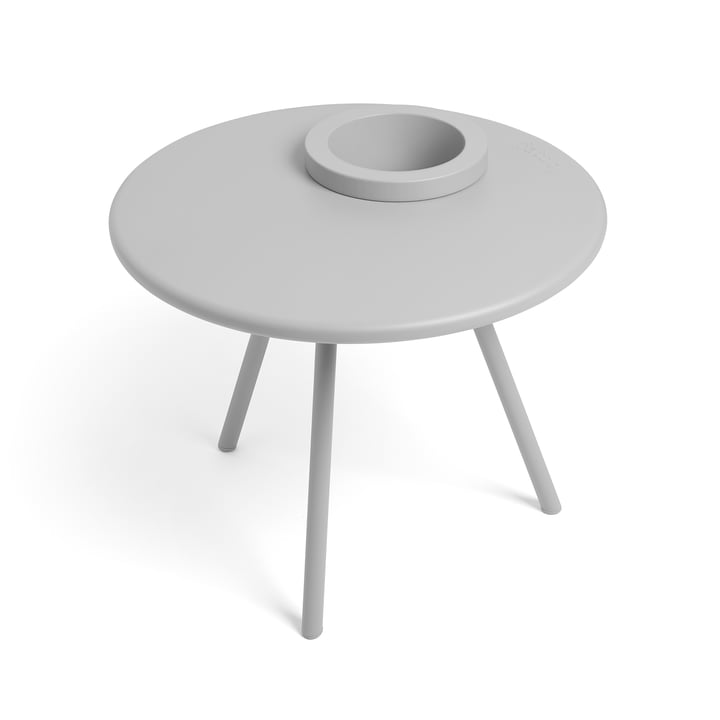 Table d'appoint Bakkes Fatboy en gris clair