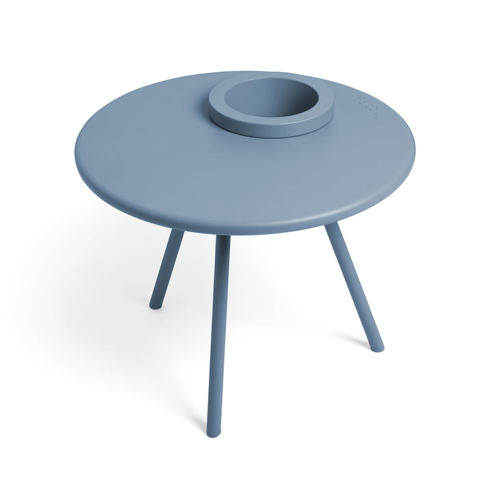 La table d'appoint Bakkes Fatboy en bleu de calcite