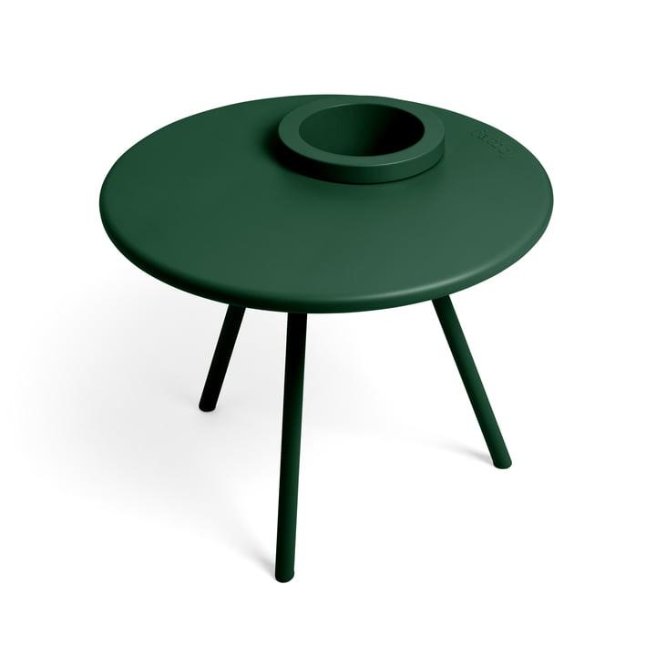 La table d'appoint Bakkes Fatboy en vert émeraude