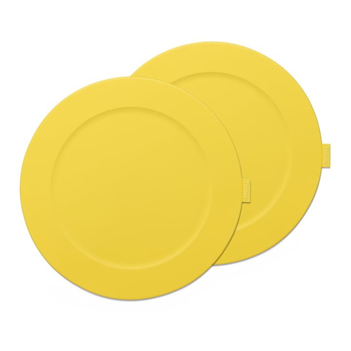 """Set de table Fatboy """"Place-we-met"""" de couleur citron"""
