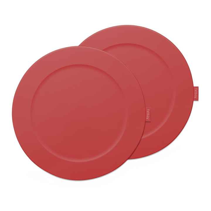 "Set de table Fatboy ""Place-we-met"" de couleur rouge industriel"