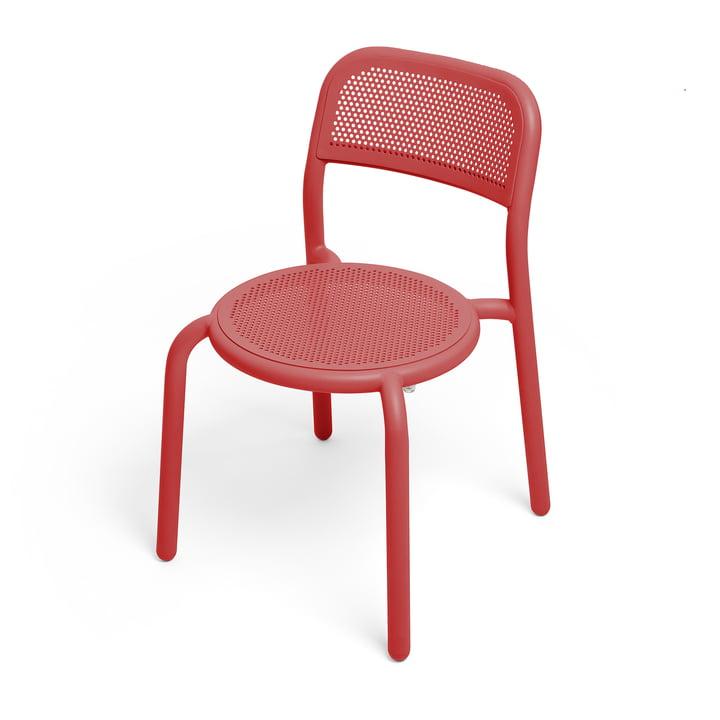 Chaise Toní de Fatboy la couleur rouge industriel
