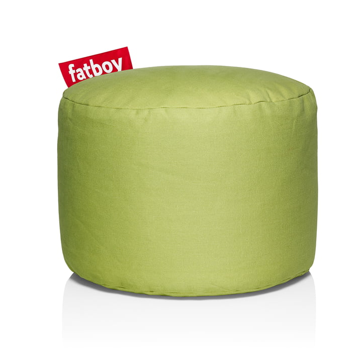 Tabouret de Fatboy Point Stonewashed en vert citron