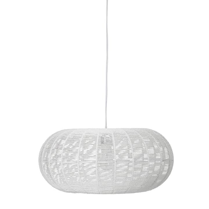 Lampe à suspension en papier, Ø 50 x H 23 cm à partir Bloomingville du blanc