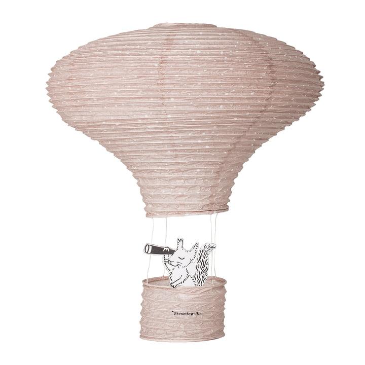 Lanterne montgolfière avec écureuil de Bloomingville en rose