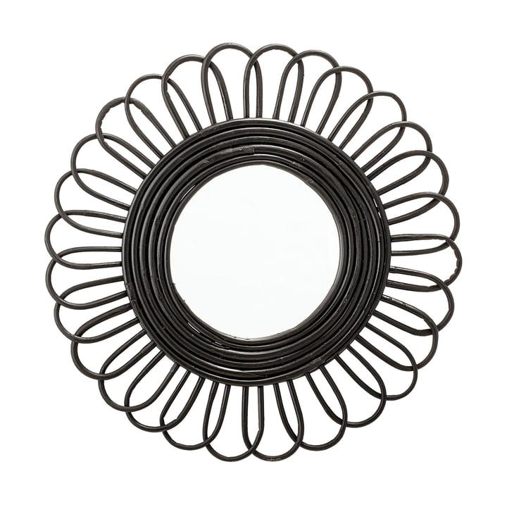 Miroir tressé Ø 48 cm à partir Bloomingville du noir