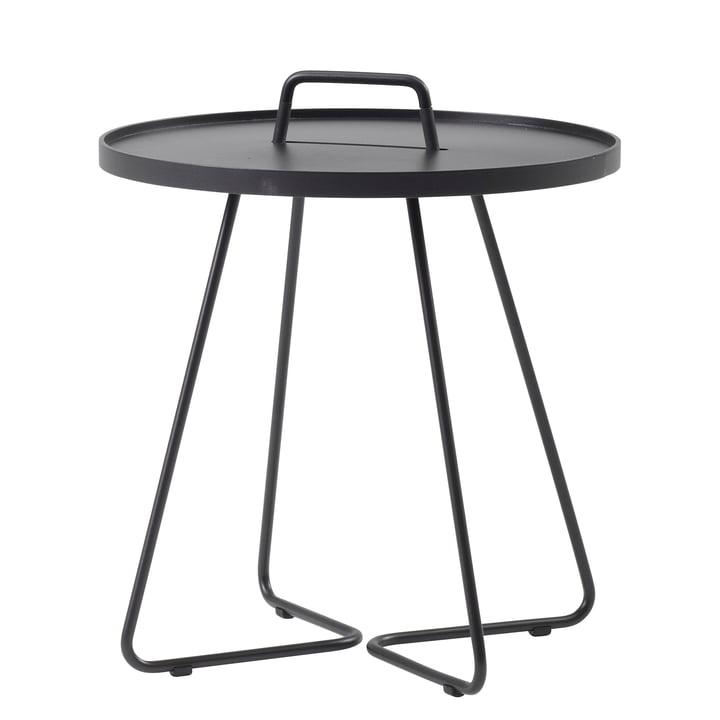 On-the-move Table d'appoint de Caneline en Ø 52 x H 60 cm / noir
