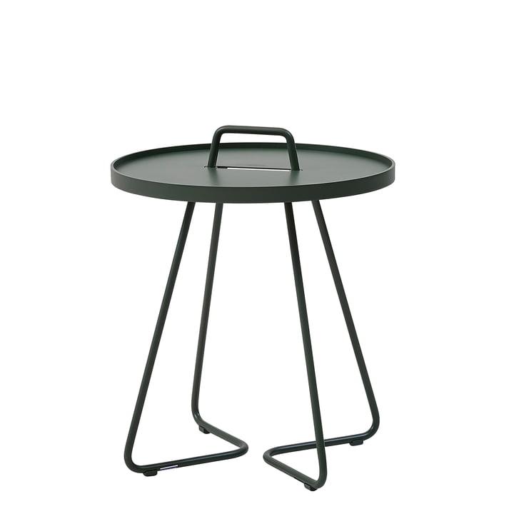On-the-move Table d'appoint Ø 44 x H 52 cm de Cane-line en vert foncé