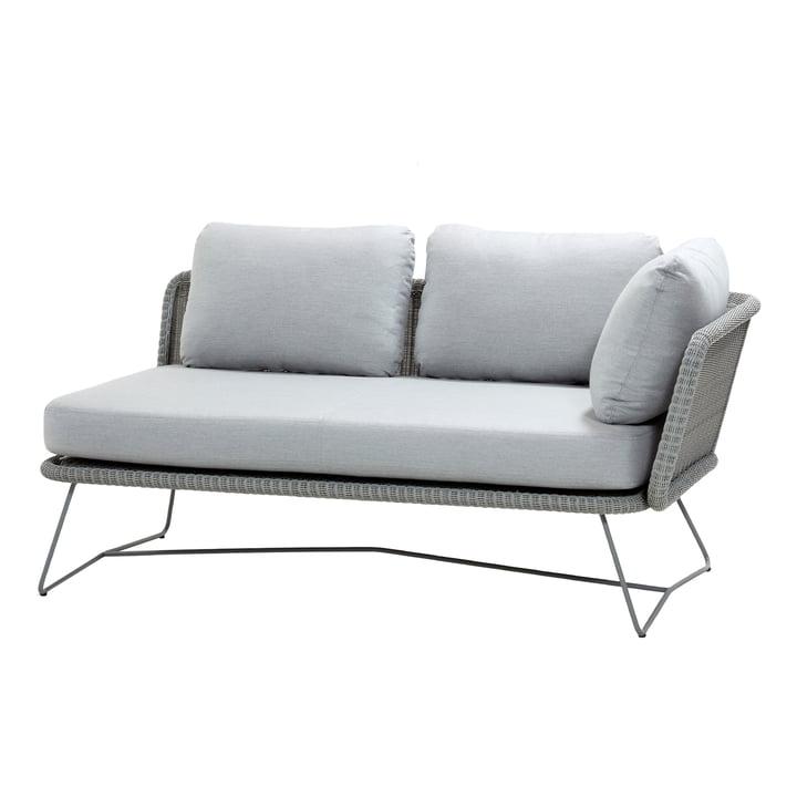 Canapé modulaire Horizon 2 places gauche, gris clair de Cane-line