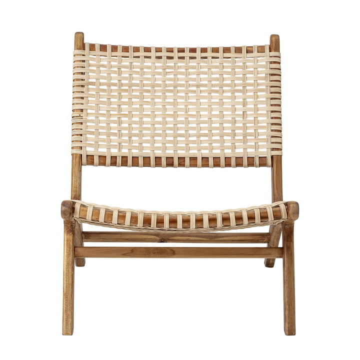 Keila Lounge Chair by Bloomingville en teck / rotin