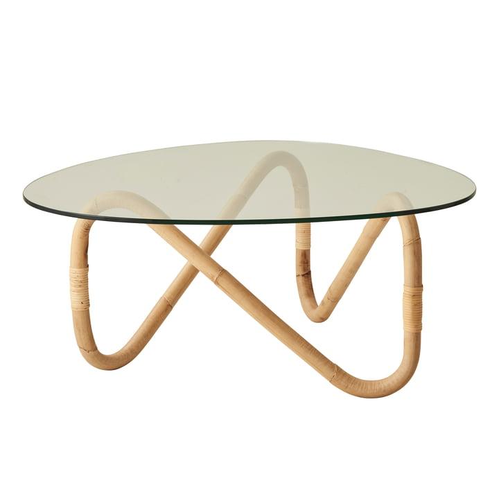 Wave Table basse, naturelle de Cane-line