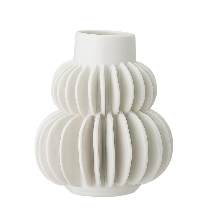 vase en faïence Ø 11,5 x 14 cm de Bloomingville en blanc