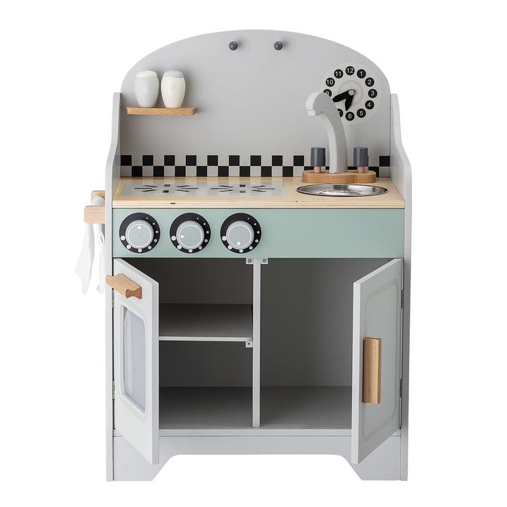 Les enfants jouent à la cuisine Bloomingville en gris