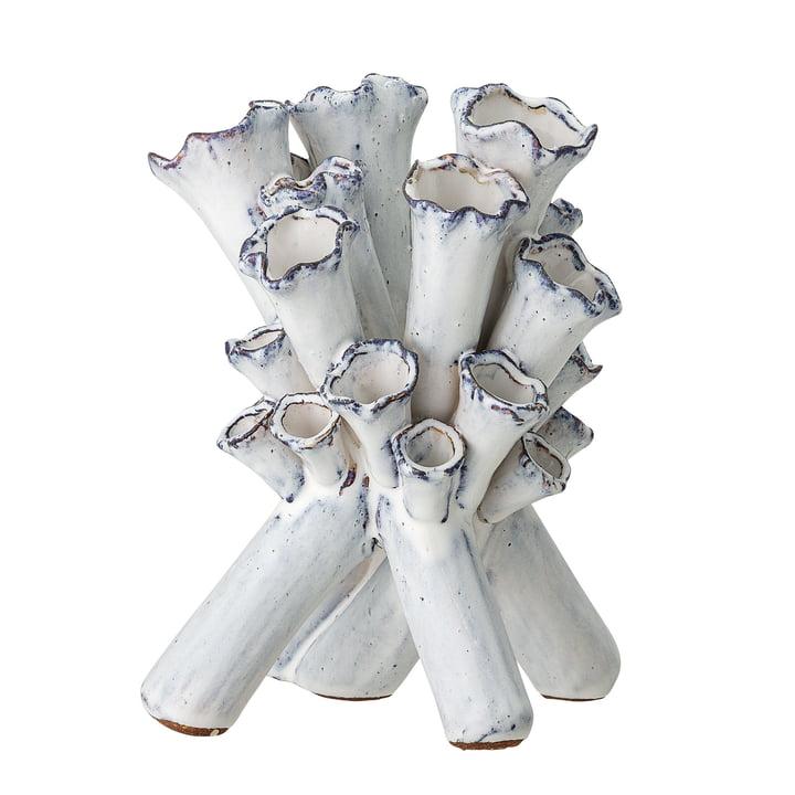 Vase à flûte H 23 cm de Bloomingville en blanc