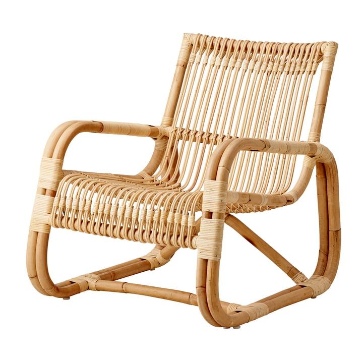 Curve Chaise longue d'intérieur, nature de Cane-line
