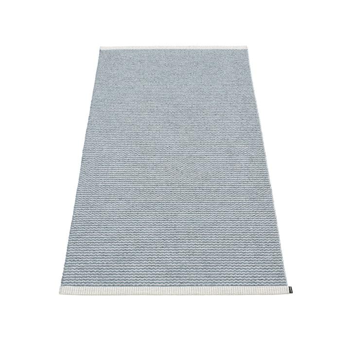 Mono tapis 85 x 160 cm de Pappelina in stormblau / gris clair