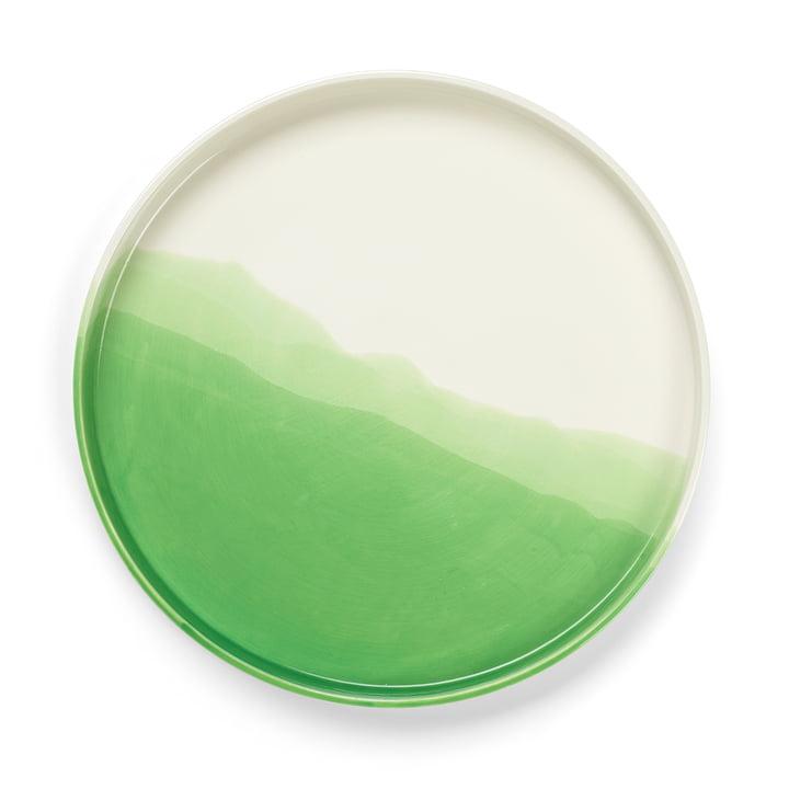 Plateau en chevrons Ø 35,5 cm de Vitra en vert