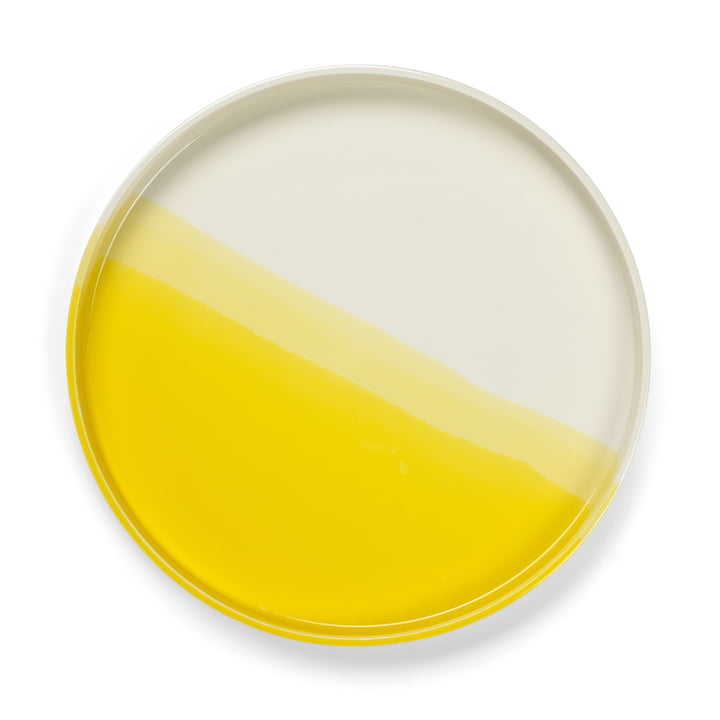 Plateau en chevrons Ø 35,5 cm à partir Vitra de en jaune
