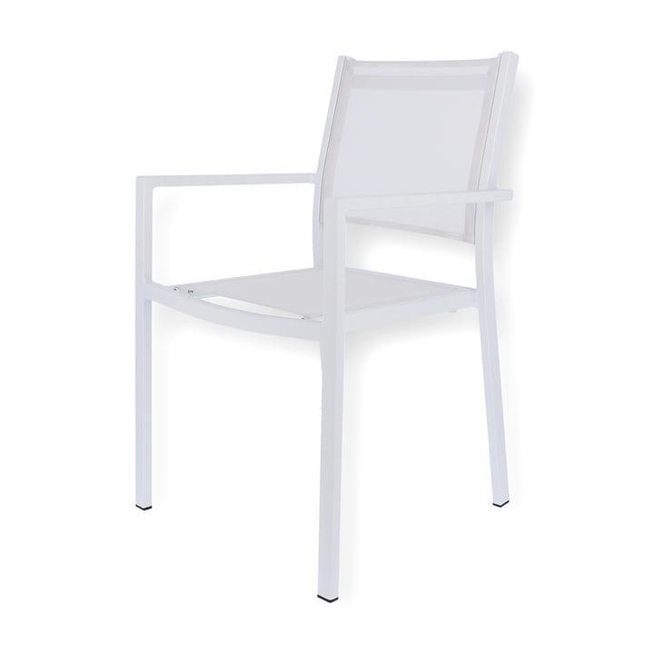 Chaise empilable Aria de Fiam en blanc