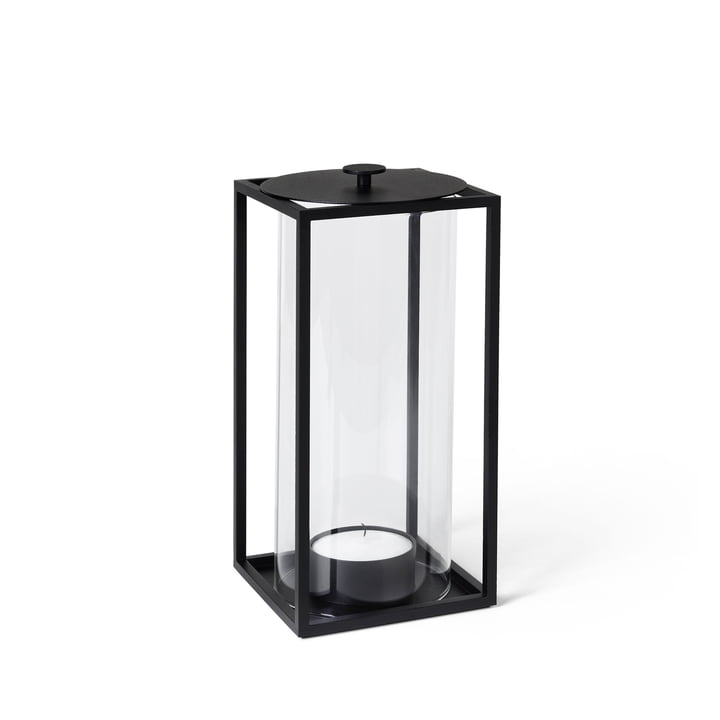 Lanterne Light'In H 20 cm de by Lassen en noir