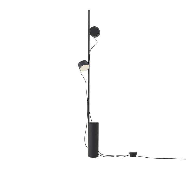 Poster le lampadaire LED de Muuto couleur noire