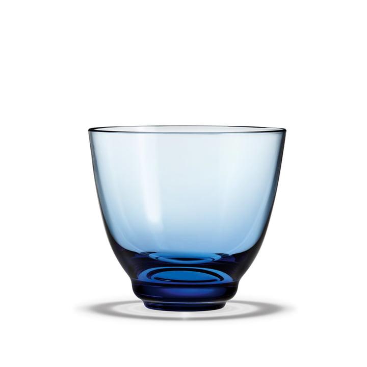 Flow Verre à eau 35 cl de Holmegaard dans le bleu