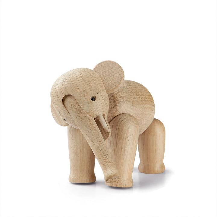 Mini éléphant de Kay Bojesen bois en chêne