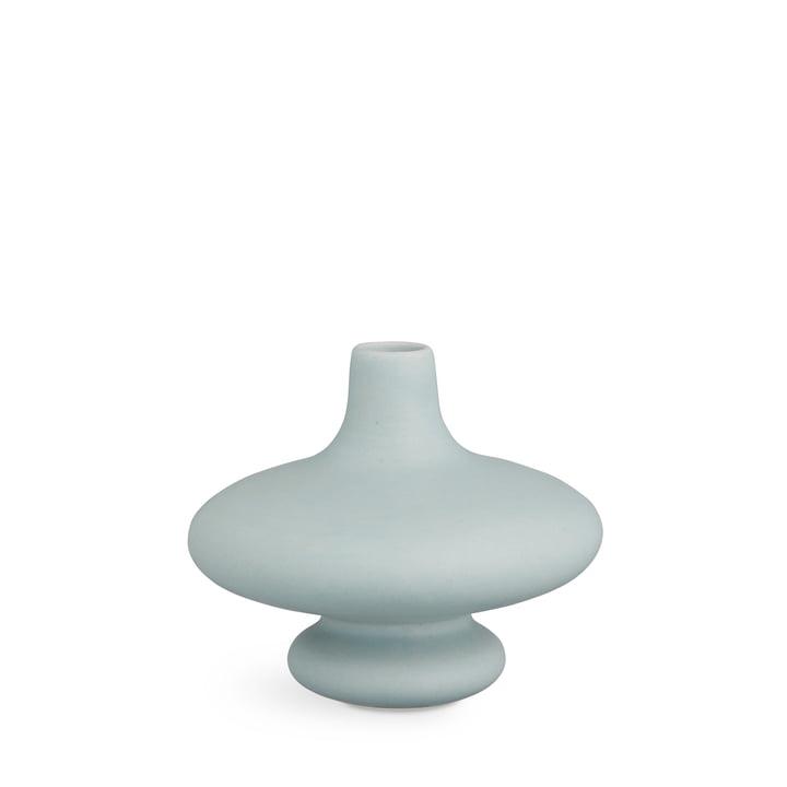 vase contour H 14 cm de Kähler Design en bleu