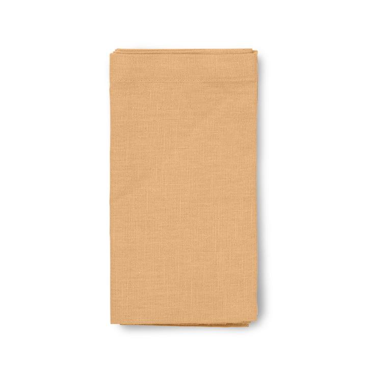 Basic Serviettes en tissu 45 x 45 cm de Juna en ocre (lot de 4)
