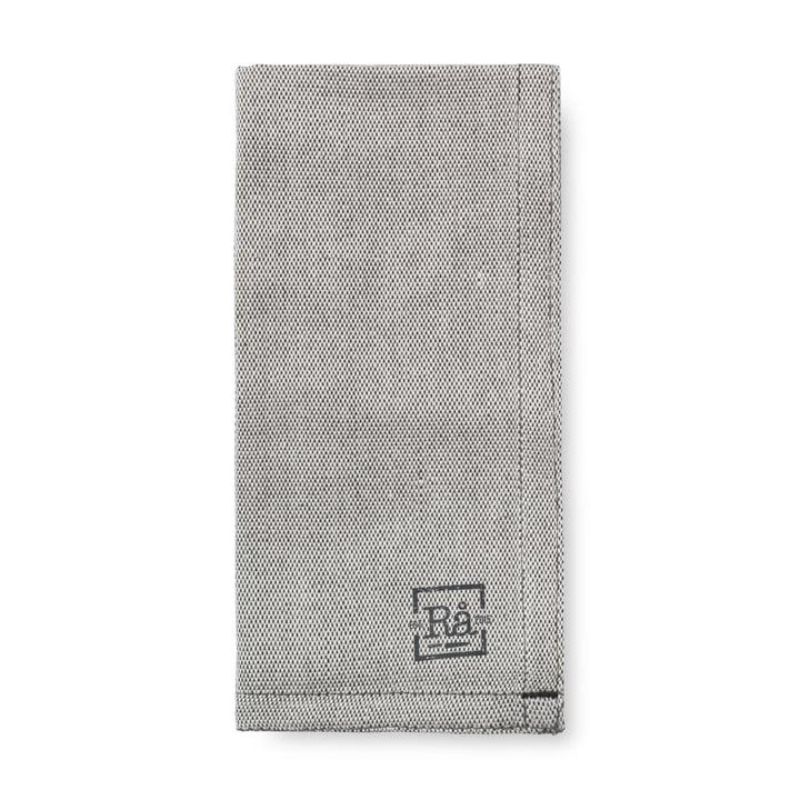 Rå serviettes de table en tissu 45 x 45 cm Juna en gris foncé (lot de 4)