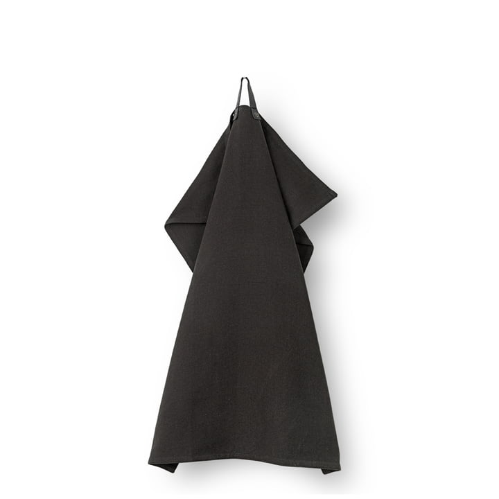 Torchon Rå 50 x 70 cm de Juna en noir