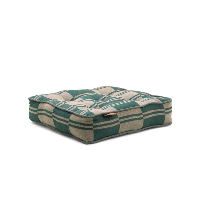 Extérieur Coussin de siège de couleur 40 x 8 x 40 cm de Juna en vert / beige