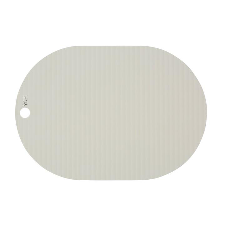 Set de table Ribbo ovale, blanc cassé de OYOY