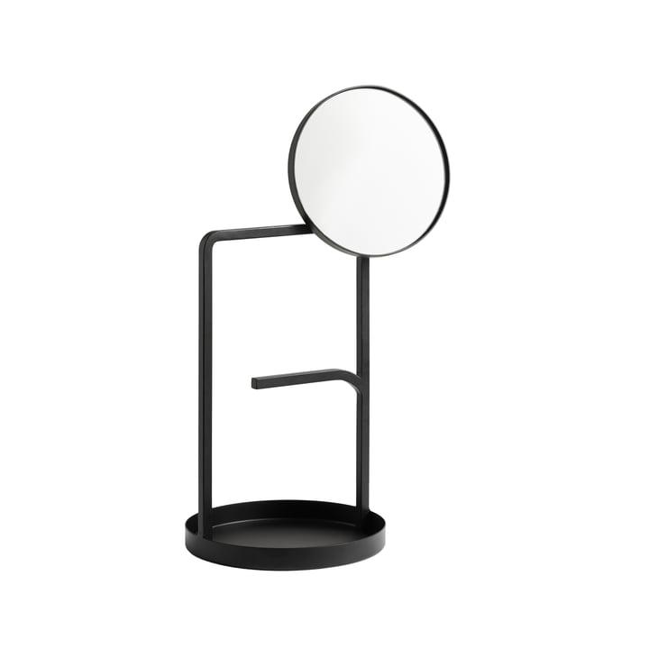 Le miroir de table Muse Woud en noir
