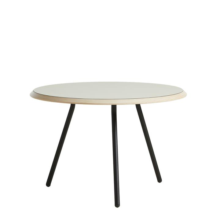 Soround Table d'appoint H 39,5 cm / Ø 60 cm à partir Woud de en laminé gris chaud (Nano)