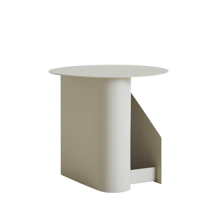 Table latérale centrale Ø 40 x H 36 cm de Woud dans le gris chaud