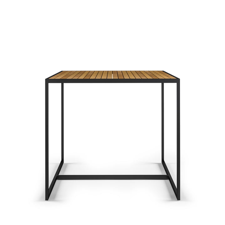 Open Bistro Table 100 x 100 cm, acier inoxydable / teck de Röshults
