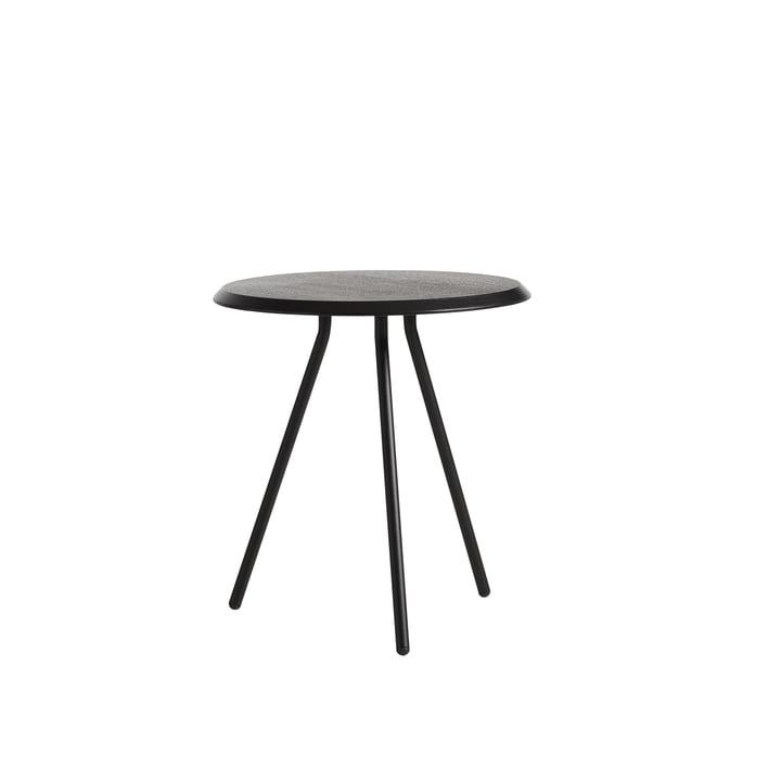 Table d'appoint Soround H 48,3 cm / Ø 45 cm Woud en chêne laqué noir
