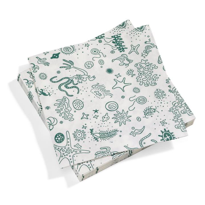 Serviettes Vitra en papier grandes choses de la mer en turquoise