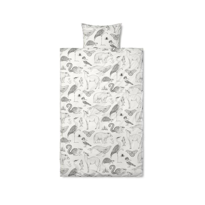 Katie Scott Linge de lit Graphic by ferm Vivre en blanc / gris