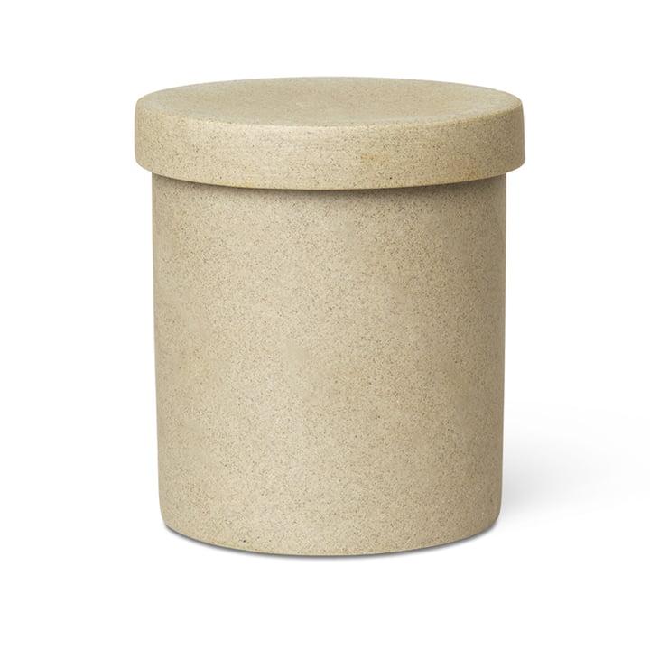 Bon Accessoires Boîte de stockage grande de ferm Vivre en beige / noir