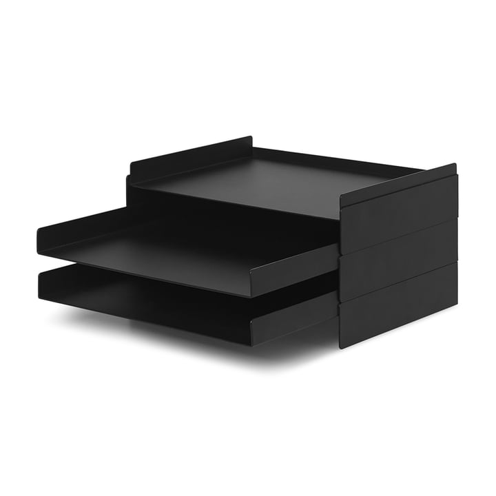 2 x 2 organisateurs de ferm Living in black