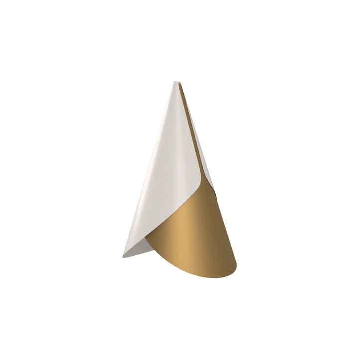 Umage - Abat-jour en cornet, Ø 1 3. 4 x 2 3. 8 cm, laiton / blanc